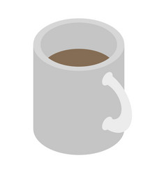 white cup of tea icon isometric style vector image