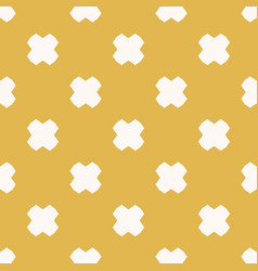 yellow and white minimalist seamless pattern vector image