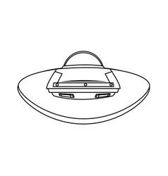 Cartoon spaceship ufo science technology vector