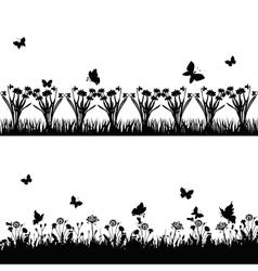 meadows vector image