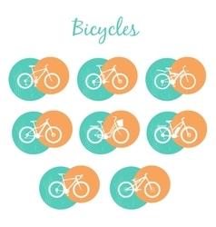 Modern Bicycles Set vector image