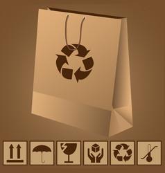 paper bag vector image
