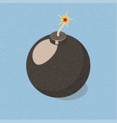 simply bomb icon vector image
