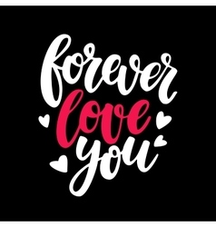 Valentine s Day lettering Isolated vector image vector image