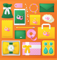 Accessories corporate identity template mockup vector