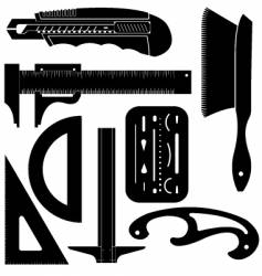 engineering tools vector image vector image