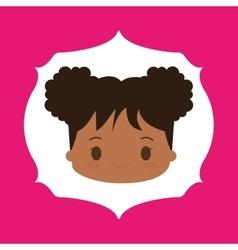 Girl kid cartoon vector