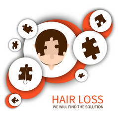 Hair loss solution concept vector image vector image
