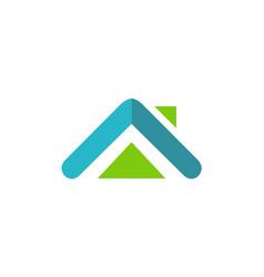 House abstract realty logo vector