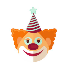 red clown from circus drawn icon cartoon style on vector image vector image