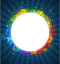 splashes round background vector image vector image