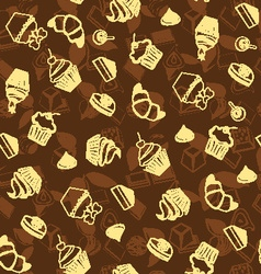 dessert background Sweets and Bakery vector image vector image
