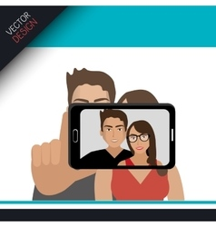 selfie photography design vector image