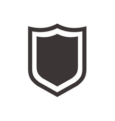 shield icon in trendy flat style isolated on white vector image vector image