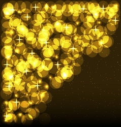 Shining Spotlights Nightclub Party Card vector image vector image