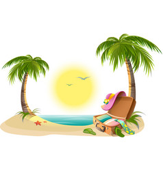 Beach holidays on summer vacations Tropical sun vector image