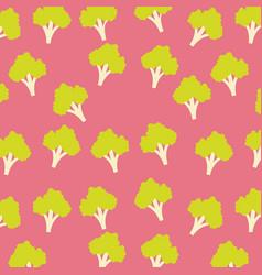 broccoli vegetable food seamless pattern vector image