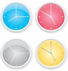 clocks design elements vector image vector image
