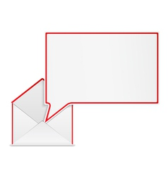 Envelope with Speech Bubble vector image vector image