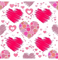 Heart pattern Seamless Valentine s Day vector image vector image