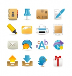 post office set vector image