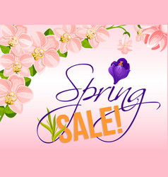 Sale poster for spring holiday discount vector