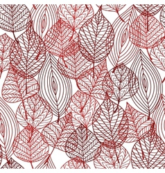 Seamless pattern of red autumnal leaves vector image vector image