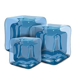 Three ice cubes vector