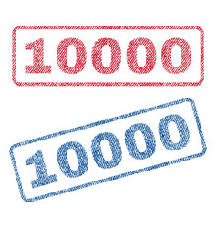 10000 textile stamps vector