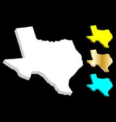 3d map of texas vector