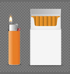 3d realistic closed clear blank cigarette vector