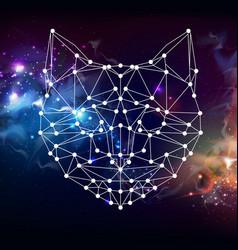 Abstract polygonal tirangle animal cat vector