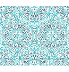 Abstract winter snowflakes seamless pattern vector image vector image