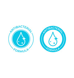Antibacterial formula icon antibacterial soap or vector