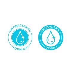 Antibacterial formula icon soap vector