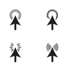 arrow click loading icon design vector image
