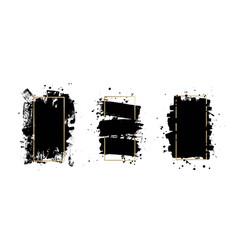 Artistic ink brush strokes grunge paint vector