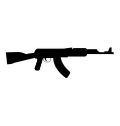 Assault rifle black color icon vector