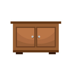 bedside table wood furniture vector image