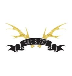 Boho Logo Card vector image