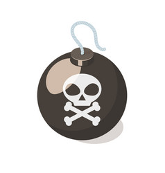 Bomb icon isolated on white background vector