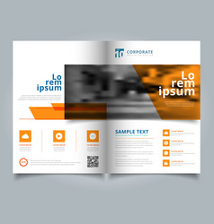 Brochure geometric layout design template annual vector