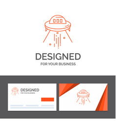 Business logo template for space ship space ship vector