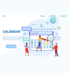 Calendar flat concept vector