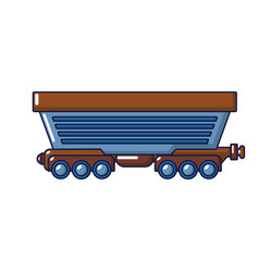 Cargo train icon cartoon style vector