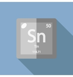 Chemical element tin flat vector