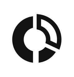 circular chart icon vector image
