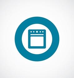 Cooker icon bold blue circle border vector