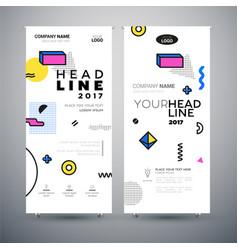 Corporate banner - set of modern template vector