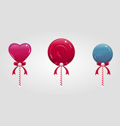cute cartoon lollypops set vector image